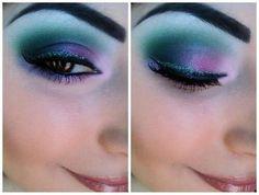 Ursula inspirierte das Make-up Disney Inspired Makeup, Disney Makeup, Ursula Disney, Little Mermaid Makeup, The Little Mermaid, Ursula Makeup, Ursula Wig, Beauty Makeup, Hair Makeup