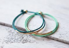 "Echtleder Armband ""Tingval"" Gold - einfach"