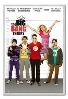 Iposters The Big Bang Theory Line Up Poster Magnetic Notice Board Silver Framed - 96.5 X 66 Cms (app @ niftywarehouse.com