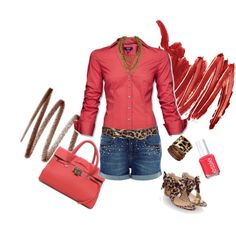 Perfectly Peachy, created by psychomama on Polyvore