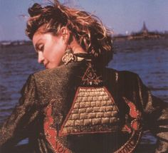 Madonna, wearing that iconic jacket from Love Saves the Day in the movie DESPERATELY SEEKING SUSAN.