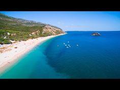 Portinho da Arrabida , Praia do Creiro & Praia da Figueirinha aerial vie...