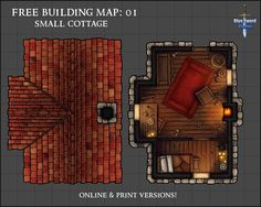 OC] Small Cottage : DnD Fantasy map making Fantasy map Dungeon maps