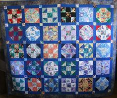 """Original pinner: """"Scrub Top Memory Quilt — made with nursing scrubs."""" Nicely designed and executed work."""