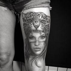 Jaguar Girl Tattoo