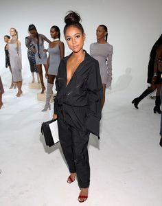 Karrueche Tran Photos Photos - Karrueche Tran attends Laquan Smith Presentation September 2016 during New York Fashion Week on September 14, 2016 in New York City. - Laquan Smith - Presentation - September 2016 - New York Fashion Week