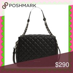 "Authentic Michael Kors Quilted Leather Handbag 💯AUTHENTIC 💓 Beautiful soft black leather handbag from Michael Kors 🌹 Very versatile! Top handle, crossbody & shoulder bag. Very spacious. Approximate measurements: 12.5"" Height 9.5"" Width 6.5"" w/ adjustable & detachable long strap. Zipper top closure w/ 5 pockets inside. Bottom feet for protection. New w/ tag & dust bag. NO TRADE ❌ MICHAEL Michael Kors Bags"