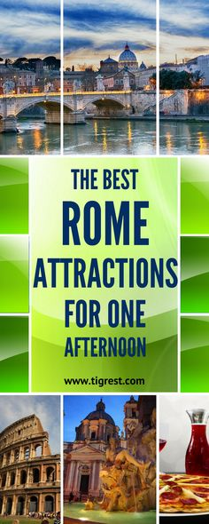 Make the most of best Rome attractions - quick few hours walking itinerary including Vatican, Castel Sant'Angelo, Fiumi and Trevi fountains
