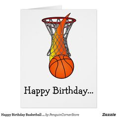 Happy Birthday Basketball from the Whole Gang Card