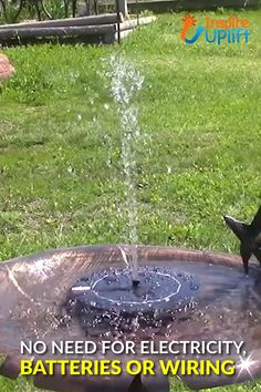 weddings - Place the Solar Garden Fountain pump in direct sunlight and watch as this charming, little fountain moves the water, spraying it gently into the air to attract more birds and create a relaxing point of interest in your garden Carefully designed Garden Yard Ideas, Lawn And Garden, Garden Projects, Backyard Ideas, Garden Weeds, Micro Garden, Garden Boxes, Garden Spaces, Porch Ideas