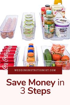 Get organized & save money College Food Hacks, College Dorm Organization, College Meals, How To Eat Less, How To Stay Healthy, Glass Storage Containers, Nutrition Tips, Spring Cleaning, Getting Organized