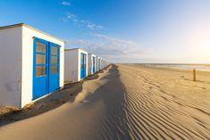 Strandhuisjes op Texel.