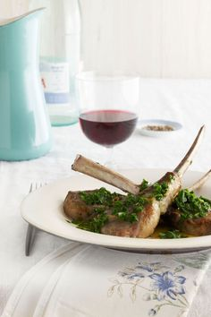 Lamb Chops with Arugula Chimichurricountryliving