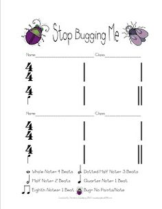 Made for Music Teachers: Bug Me