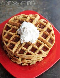 30. Pumpkin Waffles | 101 Pumpkin Recipes From Drinks To Dessert