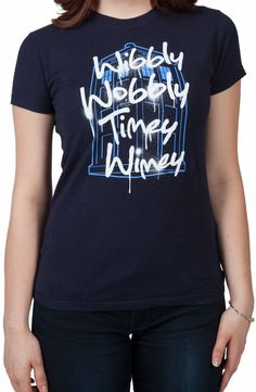 Ladies Timey Wimey Doctor Who Shirt: Doctor Who Juniors T-shirt