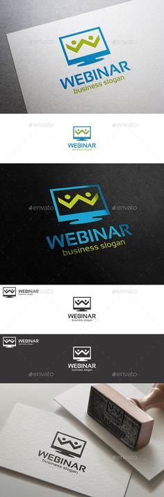 Webinar Internet Workshop Logo — Vector EPS #identity #simple shape logo • Available here → https://graphicriver.net/item/webinar-internet-workshop-logo/10575004?ref=pxcr
