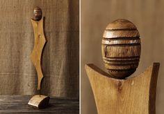 Efervescent –  lucrare de arta sculptata in lemn de salcam galben si stejar, Florin Constantinescu