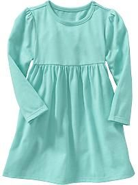 Long-Sleeved Jersey Dresses for Baby