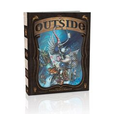 "The Outside Book by Greg Craola Simkins: This hardcover book contains 280 pages of paintings archived by Greg ""Craola"" Simkins. Prepare yourself for a journey into Greg Simkins' imagination when you open the cover. This book is filled with vivid colors, wild characters, and strange dreams! Size: 9""x12"", 280 Pages. Retail Price: $59.95"