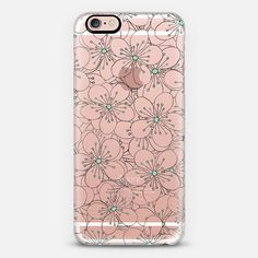 Cherry Blossom Mint Transparent - Classic Snap Case **$10 off and FREE shipping with code 5UUFAR**