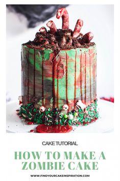 Spooky Halloween Cakes, Halloween Baking, Halloween Party, Zombie Party, Halloween Birthday Cakes, 4th Birthday, Birthday Ideas, Birthday Cake Alternatives, Buttercream Techniques