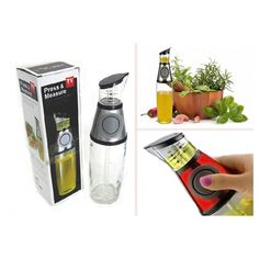 Buttoned Oil and Vinegar Dispenser Cum Measurer – The Immart