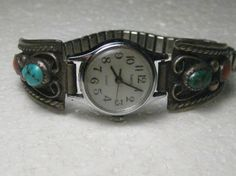 Vintage Southwestern Sterling Silver Turquoise & by stampshopgirl