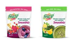 Fru-V smoothie packaging design. Real Quick, Juice Bottles, Mole, Fruits And Vegetables, Real Food Recipes, Packaging Design, Smoothie, Nutrition, Business