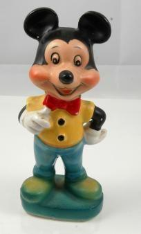 Vintage Mickey Mouse Porcelian Figurine
