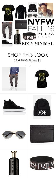 """005"" by direction24-i on Polyvore featuring G-Star Raw, Common Projects, Dope, Ray-Ban, Yves Saint Laurent, HUGO, mens, men, men's wear and mens wear"