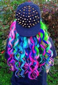 Beautiful and colorful hair - Schöne haare - Cheveux Femme Cute Hair Colors, Pretty Hair Color, Beautiful Hair Color, Hair Dye Colors, Rainbow Hair Colors, Pastel Rainbow Hair, Beautiful Braids, Beautiful Beautiful, Coloured Hair