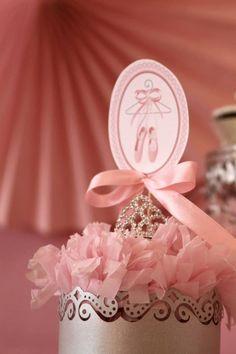 Pink Party aniversário da bailarina via Idéias do partido de Kara |. Kara'sPartyIdeas com # # Ballet PartyIdeas # Suprimentos # Girl # Pink (15)