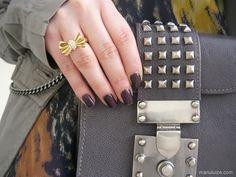 Detalhes do look: Bolsa roxa #bag