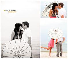 Ft. Morgan // Beach Parasol // Engagement Session // Kate's Captures Photography