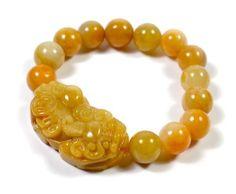 Geschnitzte chinesische Tiger Qualität Gelbe Jade Amulett Armband 16cm-Fortune Feng Shui Schmuck von Feng Shui & Fortune Jewelry, http://www.amazon.de/dp/B00D5WRLH0/ref=cm_sw_r_pi_dp_dVtnsb1CF8Z7V
