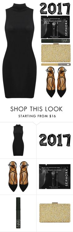 """""""Hello 2017 Goodbye 2016!🎉🎊"""" by britney-brit ❤ liked on Polyvore featuring Aquazzura, Sephora Collection, NARS Cosmetics, Sasha and Urban Decay"""
