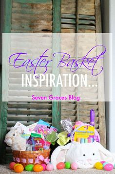 Fun Easter basket inspiration. Five Easter basket fillers for your little one! Books, colored chalk, and more.