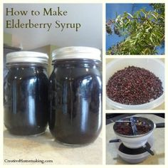 Step-by-step instructions for making homemade elderberry syrup. Great on pancakes and also an easy DIY home remedy for the common cold.