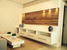 Home em apartamento decorado em Balneario Camboriu, projeto e execução da Studio A4 Marcenaria & Design