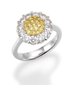 Our new fancy yellow diamond ring