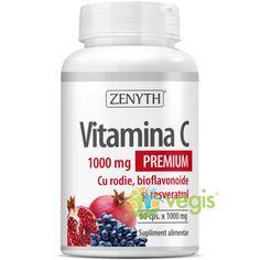 Vitamina C cu Rodie, Bioflavoniode si Resveratrol 1000mg 60cps Kale, Coconut Oil, Gluten, Food, Collard Greens, Essen, Meals, Cauliflowers, Savoy Cabbage