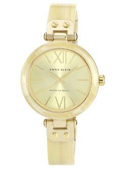 women's watches: Armitron gold watches women Anne Klein Women's 109652CHHN Gold-Tone Horn Plastic Bezel and Bangle Bracelet Watch