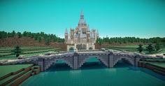 Zelda: Twilight Princess Minecraft Project Cool Minecraft Creations, Minecraft Bridges, Minecraft Building Blueprints, Minecraft Castle, All Minecraft, Minecraft Construction, Minecraft Designs, Minecraft Buildings, Minecraft Ideas