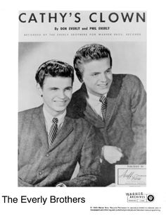 The Everly Brothers Publicity Photo by RockPopAtoZ on Etsy  Wake Up Little Susie!