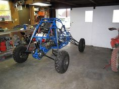 Finally finished my first build; well almost finished. Here are some pictures of the buggy and some build progress pictures. The buggy runs a f Go Kart Buggy, Off Road Buggy, Go Kart Off Road, Go Kart Designs, Go Kart Kits, Kart Cross, Kids Jeep, Go Kart Plans, Atv Car