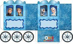Caixinhas festa Frozen para imprimir e montar | Festa Frozen
