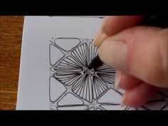 How to draw tangle pattern Nymph - YouTube (10min) I like this tangle. Can be creative with shading and/or color