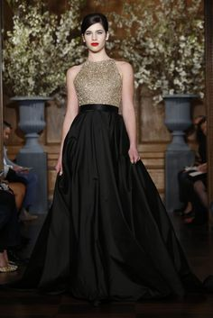 Ditch white for edgy Gold and Black-- Romona Keveza Bridal Spring 2014 #2