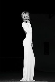 Simply Fabulous Long sleeve white maxi dress with a low back